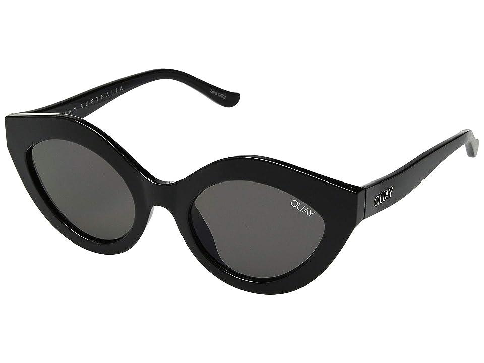 QUAY AUSTRALIA Goodnight Kiss (Black/Smoke) Fashion Sunglasses