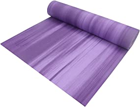 Non-Slip Yoga Mat Stripe Beginner Indoor Fat Loss Pilates Fitness Body Yoga Enthusiasts (Color : Purple)