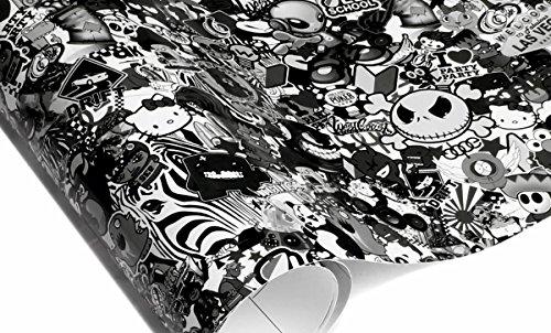 (26,52 EUR/m²)Stickerbombfolie 50x150cm Stickerbomb folie Autofolie aufkleber sticker bomb car wrapping