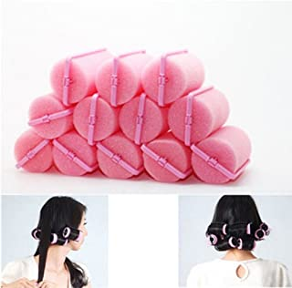 LouiseEvel215 12PCS//Set Plastic Hair Curlers Rollers Silicon Hair Style Rollers Soft Magic DIY Hair Style Tools