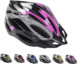 Deyiis Casco de bicicleta, casco de bicicleta de montaña, casco de bicicleta para adultos, ajustable, con visera extraíbl...