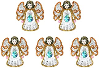 DIY Key Chain Diamond Painting Sets, 5pcs 5D Angel Full Drill Special Shaped Diamond Painting Fashion Keyring Mosaic Making Art Craft Gifts for Bag Phone Straps Decor