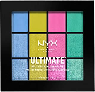 NYX PROFESSIONAL MAKEUP Ultimate Multi-Finish Shadow Palette, Electric, 0.48 Ounce