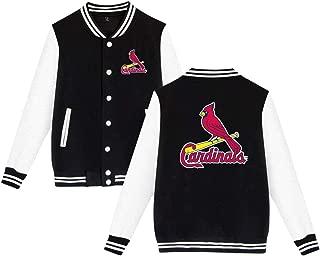 St. Louis Cardinals セントルイス カージナルス MLB ヴァーシティージャケット カジュアルアウター スタジャン ブルゾン ユニセックス野球ジャケットバーシティ野球コットンジャケットレタージャケット 春秋冬