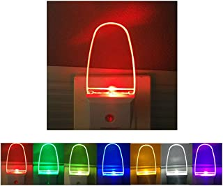 2 Pack LED Night Light Lamp with Dusk to Dawn Light Sensor Color Selection Night Lights(Multi-Colored)