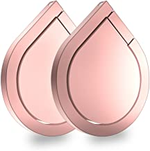 Cell Phone Ring Stand Holder, Asstar 360 Rotation Water Drop Shape Magnetic Phone Grip Kickstand, Universal Finger Ring Stand for iPhone, Smartphones, Samsung, Tablet (Rose Gold)