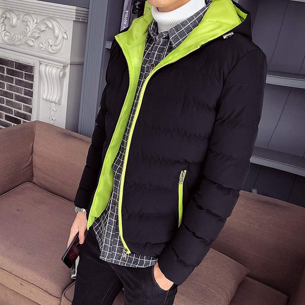 YAOTT Giubbotto con Cappuccio Uomo Invernale Imbottito Giacche Antivento Outwear