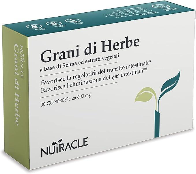 58 opinioni per Nutracle Grani di Herbe 30 compresse da 600 mg | Erbe per Colon e Intestino