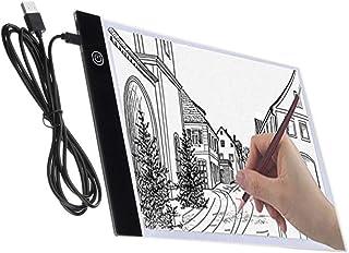 Majome Tablette Lumineuse Dessin, A4 Super Mince USB LED Art Plaque de luminosité Dessin Copie Pad Dessin Table (3 Niveaux...