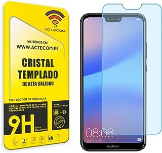 comprar comparacion actecom Cristal Templado Huawei P20 Lite Protector Pantalla Huawei P20 Lite 0.2MM para Huawei P20 Lite Varios Modelos (Cri...