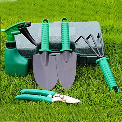 Dasongff 5-teiliges Garten-Kleingeräte Set Sukkulenten Werkzeuge Miniatur Gartenarbeit Werkzeug für Balkon- und Terrassengärtner, Pflanzenkelle, Grubber, Schere und Gießkanne