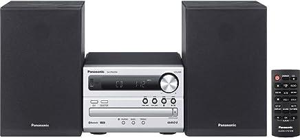 Panasonic SC-PM250 - Microcadena de 20 W (2 x 10 W, AM, FM, USB, MP3, Bluetooth), plateado