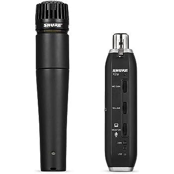 Shure SM57-X2U Cardioid Dynamic Microphone with X2U XLR-to-USB Signal Adapter