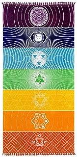 Enipate Wall Hanging India Rainbow Tapestry Mandala Bohemia Blanket Cotton Chakra for Bath Towel Yoga Mat Home Decor Shawl Beach Towel
