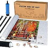MOZOOSON Tapete Puzzle Mat, Rompecabezas Saver Roll Felt Mat Playmat para 1500 Piezas Puzzle Jigsaw Player