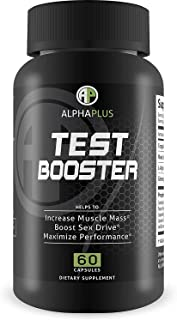 Alpha Plus Test Booster 60 Capsules - Increase Muscle Mass - Maximize Performance - Improved Formula