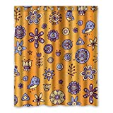 Once Young-Creative Cartoon-Muster Lila Vorhang für die Dusche, Polyester Stoff wasserdicht Duschvorhang Badezimmer Deko 152,4x 182,9cm (152cm x 183cm), Polyester, J, 152,4 x 182,9 cm