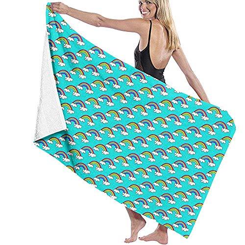 CASU Beach Towel Eine Menge von kleinen Regenbogen Strandtuch Mikrofaser Super saugfähige Persönlichkeit Badetuch schnell trocknende Stranddecke