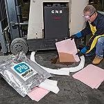 Battery Acid Spill Pack, Absorbs Acids, 4-Gal Absorbency, Tamper Resistant Spill Kit, New Pig KIT353 Contents