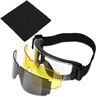 Windproof Riding Goggle Airsoft X800 Glasses Gx1000 with Black Yellow Transparent Lens for Kite Surfing Skiing Cycling