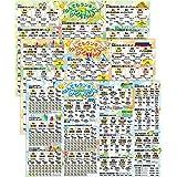 日本と世界の地理雑学 ランキング お風呂ポスター 3枚セット なんでもランキング ザ ジャパン&ワールド B3サイズ(横51.5cm×縦36.4cm)地理 社会 防水 お風呂の学校