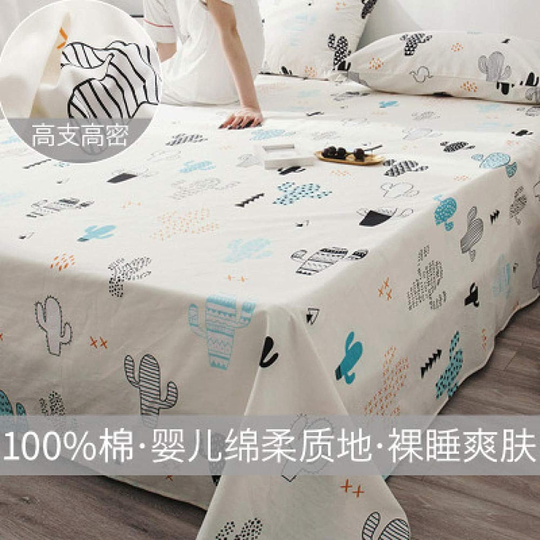Comfort traspirante Fogli di cotone stampati semplici Pezzo unico in cotone Four Seasons Universal, P_160Cmx230Cm