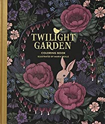 twilight garden blomster mandala favorite coloring book