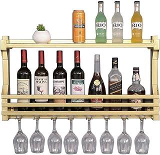 N/Z Mobilier de Maison Armoire à vin Organiser la Cuisine Casiers à vin muraux Noirs/dorés Porte-Bouteilles de vin en méta...