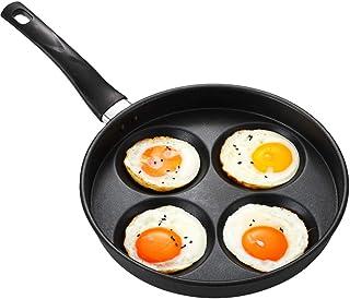 QQDL Sartén 4 moldes de Huevo Frito Huevos fritos moldes Anillos aptas para Todo Tipo de cocinas Incluso inducción aptas para Todo Tipo de cocinas incluida inducción y vitrocerámica