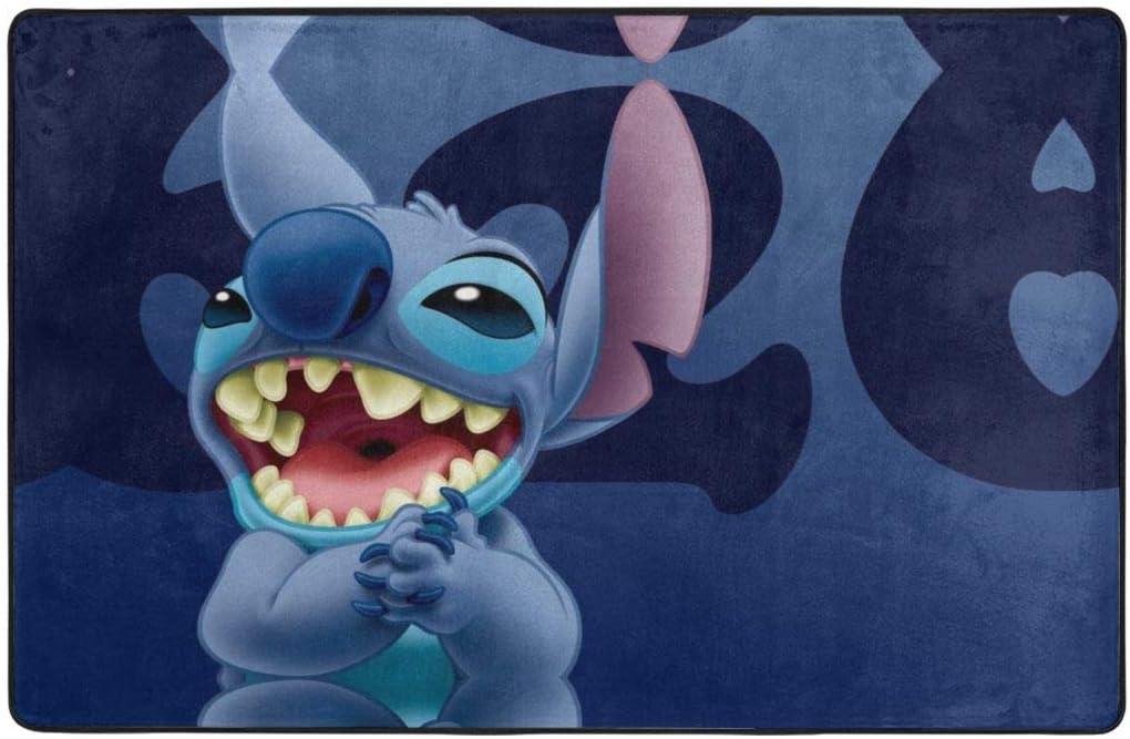Lilo Stitch Area Rug New sales trend rank Non-Slip Floor Ro Living for Doormats Mat