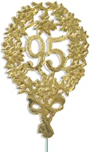 Walter Kunze Design Dresden Party Anniversary Jubilee Number 95 with Wire, Gold