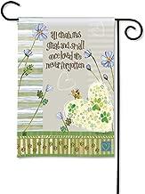 BreezeArt Studio M Pawprints on My Heart Decorative Pet Memorial Garden Flag – Premium Quality, 12.5 x 18 Inches