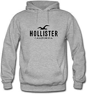 Hollister California Black Logo Printed For Ladies Womens Hoodies