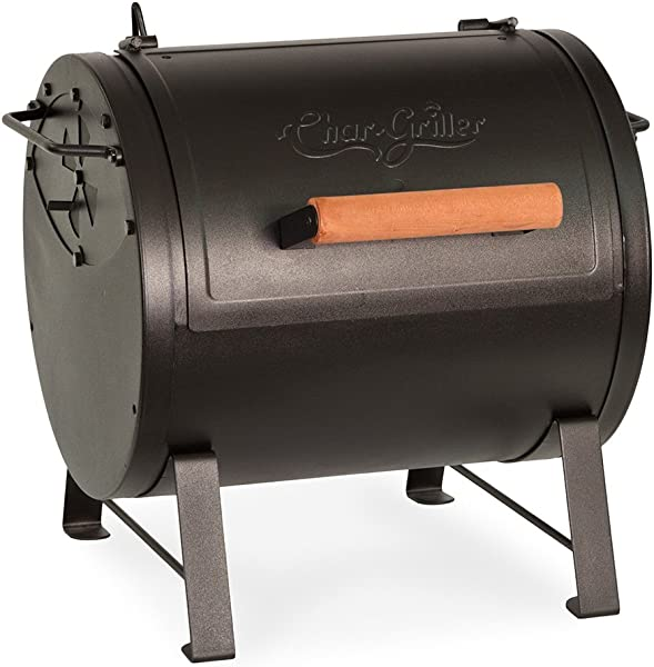 Char Griller E22424 Table Top Charcoal Grill And Side Fire Box Black