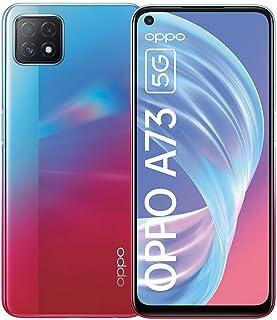 "OPPO A73 – Smartphone de 6.5"", 5G, AMOLED, 8GB +128GB, Triple Cámara con IA, carga rápida 18W, 4040mAh, Dual Sim Android 10, Neón"