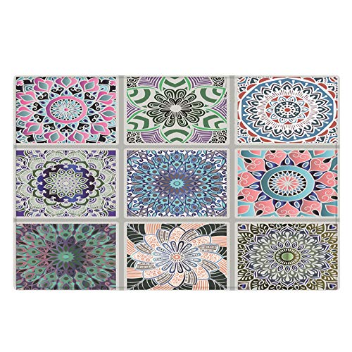 Michance European Style Fashion All-Match Printed Carpet Non-Slip Floor Mat With Bumps On The Back Suitable For Floor Mats Of Shopping Malls, Gardens And Villas