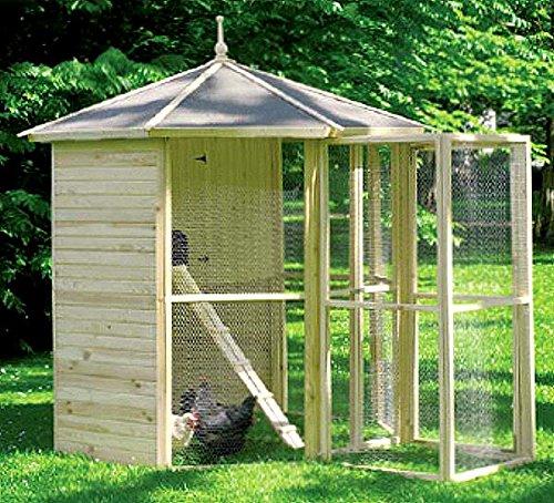 Homcom 8 de esquina con pájaro jaula + entrada Schleuse 232 x 232 x 250 cm: Amazon.es: Productos para mascotas