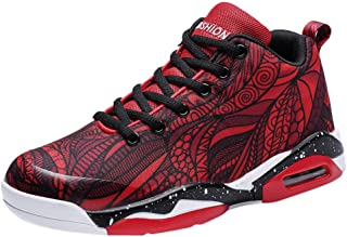 Couple Basketball Shoes Air Cushion High Top Shock Breathable Running Sneakers