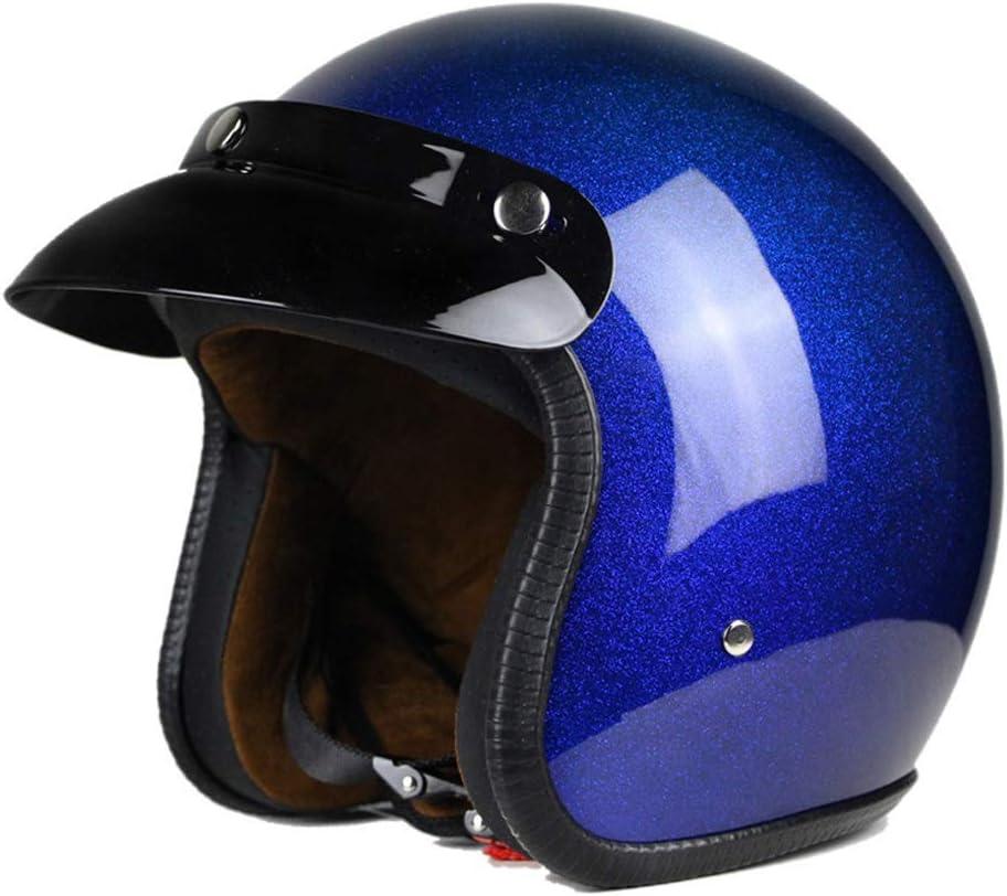 Mangen Open Face Motorcycle Vespa Helmet Pilot Scooter Motorcycle Motorbike Jet Retro Red+White, M