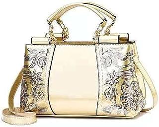 MIMITU Stickerei Damen Tasche Leder Geldbörsen und Handtaschen Luxus Umhängetaschen Umhängetaschen Weibliche Tasche für Da...