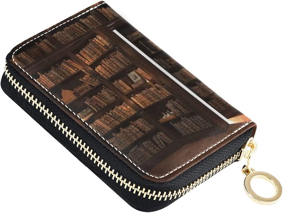 Card Wallet Secret Door Bookcase Smal New Finally popular brand arrival Mysterious Library Candle