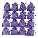 16 Purple French Dried Lavender Sachets Craft Bag - Lavender Sachets Wedding Toss, Home Fragrance Sachets...