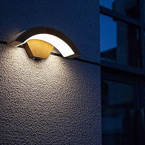 CHHD Diseño de Arco Simple IP65 Impermeable LED Luz de Pared al Aire Libre para Puerta Delantera Jardín Pasillo Balcón Patio Patio Trasero (Luz Blanca fría)