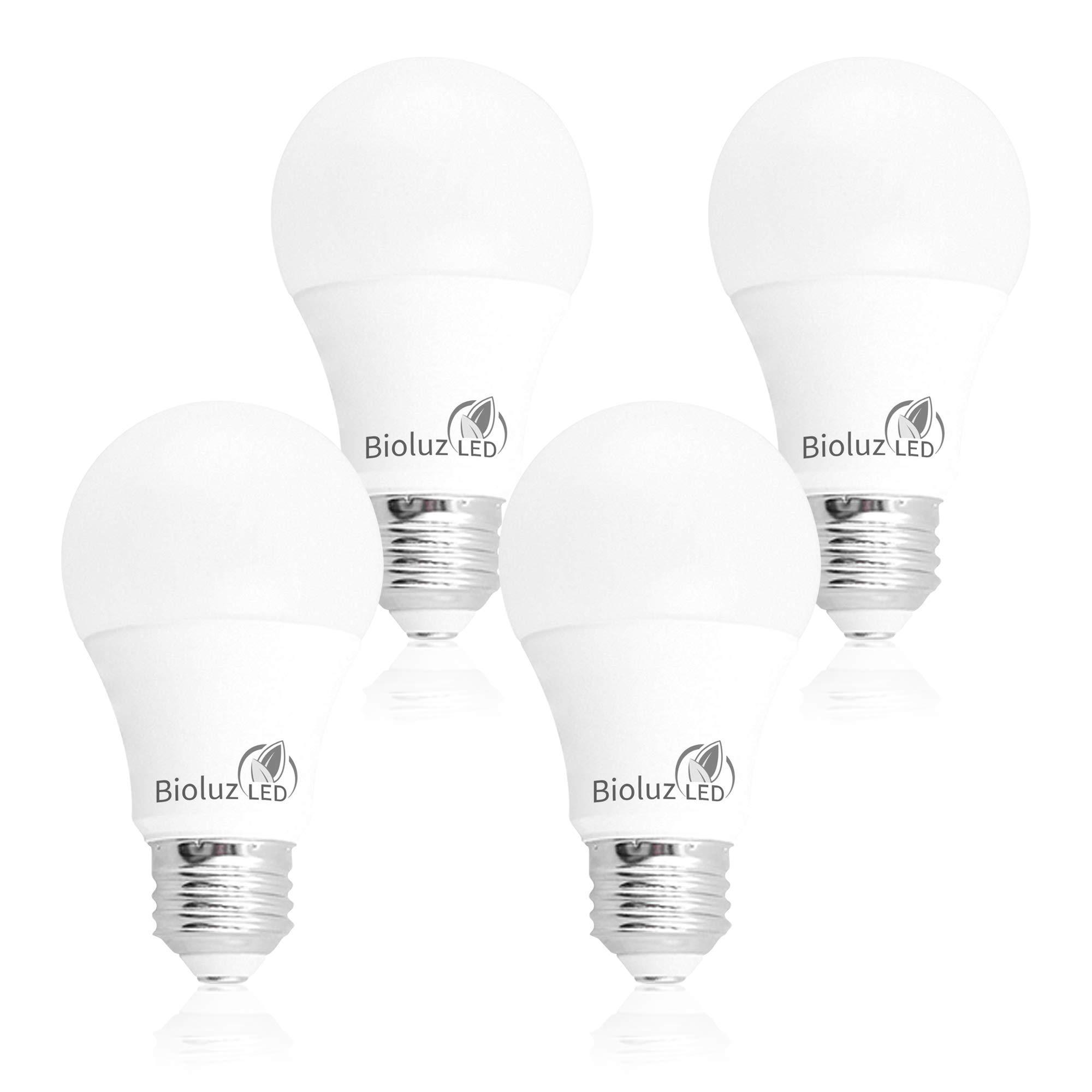 Bioluz Led 100w Dimmable Led Light Bulbs Soft White 3000k A19 Led Light Bulb 1600 Lumen 4 Pack Amazon Com