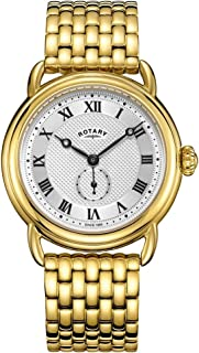 Rotary Mens Canterbury Gold Plated Bracelet GB05338/21