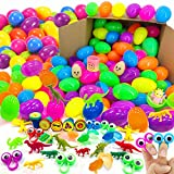 iGeeKid 150 Piece Toys Filled Easter Eggs, 2 2/5'' Plastic Surprise Eggs with 150 Different Toys for Kids Easter Basket Stuffer, Easter Party Favor, Easter Egg Hunt, Classroom Prize, Best Easter Gift