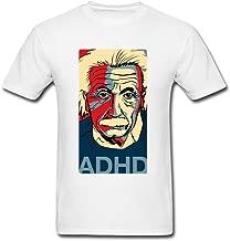 JustLikeSun Men's Einstein ADHD Quote Art T Shirt
