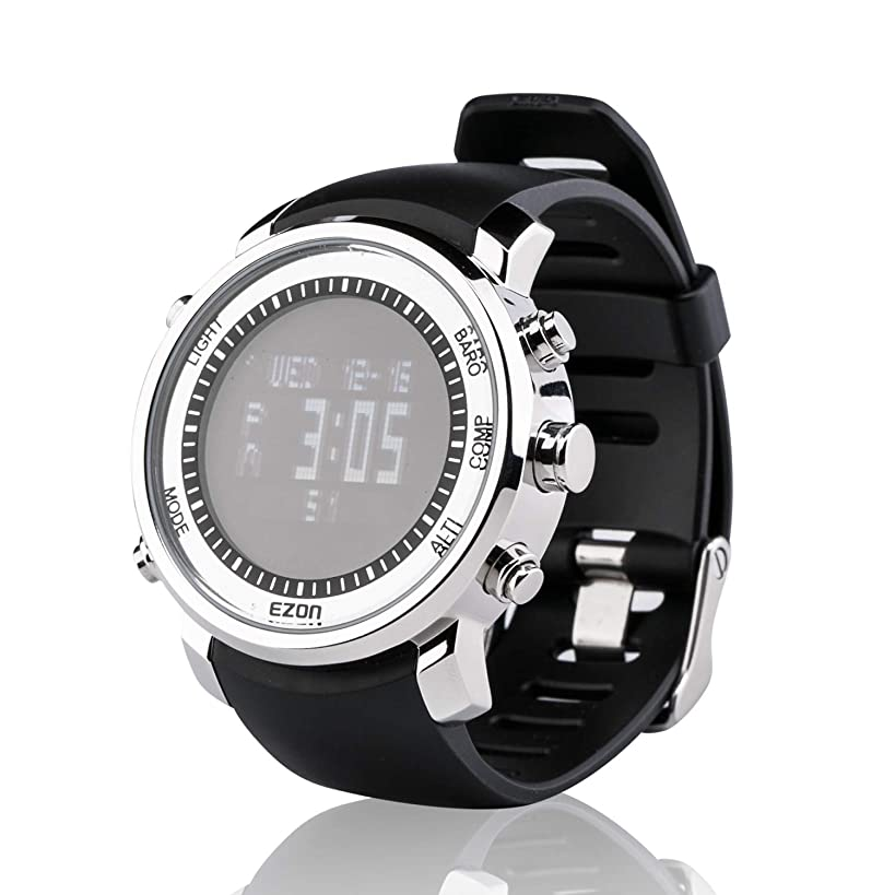 EZON Hiking Watch with Compass Altimeter Barometer Thermometer for Men Outdoor Climbing Waterproof Digital Sports Watch H506