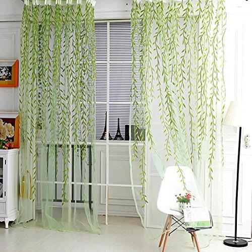 Wicker Curtain Fils produit fini pour le salon Tulle rideau de la fenêtre Décor-Vert