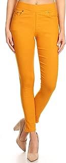 Womens Casual Color Denim Pants Skinny Elastic Waist Jeggings Ankle Jeans